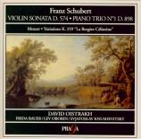 SCHUBERT - Oistrakh Trio - Trio avec piano n°1 en si bémol majeur op.99