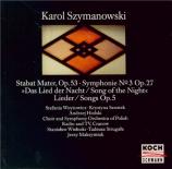 SZYMANOWSKI - Wislocki - Symphonie n°3 op.27 'Chant de la nuit'