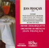 FRANCAIX - Françaix - Fantaisie pour violoncelle et orchestre