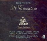 VERDI - Previtali - Il trovatore, opéra en quatre actes (version origina