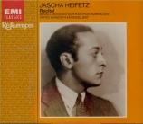 Récital Jascha Heifetz