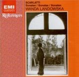 SCARLATTI - Landowska - Sonate pour clavier en si bémol majeur K.488 L
