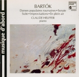 BARTOK - Helffer - Suite pour piano op.14 Sz.62