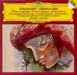 STRAVINSKY - Levine - Œdipus Rex, opéra-oratorio en 2 actes d'après Soph