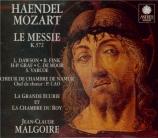 HAENDEL - Malgoire - Messiah (Le Messie), oratorio HWV.56 : orchestratio
