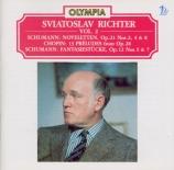 SCHUMANN - Richter - Noveletten (Huit novelettes), pour piano op.21