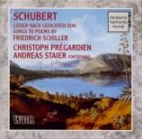 Lieder sur des poèmes de Schiller