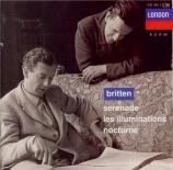 BRITTEN - Britten - Serenade, cycle de mélodies pour ténor, cor et corde