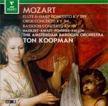 MOZART - Koopman - Concerto pour flûte, harpe et orchestre en do majeur