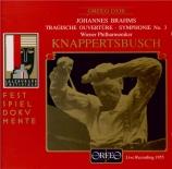BRAHMS - Knappertsbusch - Symphonie n°3 pour orchestre en fa majeur op.9