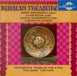 CHOSTAKOVITCH - Chostakovitch - Sonate pour violoncelle et piano op.40