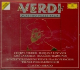 VERDI - Abbado - Messa da requiem, pour quatre voix solo, choeur, et orch