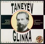 TANEYEV - Quintet of the - Quintette avec piano op.30
