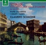 VIVALDI - Scimone - Concerto pour viole d'amour, cordes et b.c. en ré ma