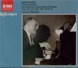 BEETHOVEN - Solomon - Sonate pour piano n°28 op.101