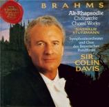 BRAHMS - Davis - Schicksalslied (Chant du destin) (Hölderlin), mélodie p