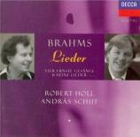 BRAHMS - Holl - Ernste Gesänge, quatre chants sérieux pour basse solo et