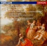 Six Quartets for Flute, Oboe, Basson & Basso Continuo