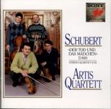 SCHUBERT - Artis Quartet - Quatuor n°14 'La jeune fille et la mort' D.81