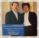 SCHUMANN - Biondi - Sonate pour violon et piano n°1 en la mineur op.105