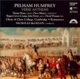 HUMFREY - McGegan - Verse Anthems
