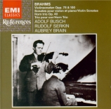 BRAHMS - Busch - Sonate pour violon et piano n°1 en sol majeur op.78