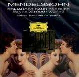 MENDELSSOHN-BARTHOLDY - Barenboim - Romances sans paroles (intégrale) (L