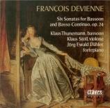 DEVIENNE - Thunemann - Sonates pour basson et basse continue (6) op.24
