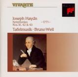 HAYDN - Weil - Symphonie n°41 en ré majeur Hob.I:41