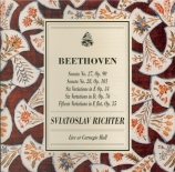 BEETHOVEN - Richter - Sonate pour piano n°27 op.90 live Carnegie Hall, New York 1965-70