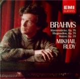 BRAHMS - Rudy - Acht Klavierstücke, huit pièces pour piano op.76