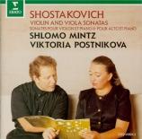 CHOSTAKOVITCH - Postnikova - Sonate pour violon et piano op.134