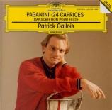 PAGANINI - Gallois - Caprices (24) op.1 : Transcriptions pour flûte