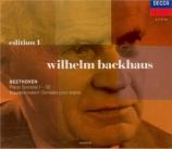 BEETHOVEN - Backhaus - Sonate pour piano n°29 op.106 'Hammerklavier'