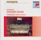 GEMINIANI - Tafelmusik - Six concerti grossi op.2