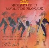 Musique de la Révolution Française : Mehul, Catel, Gossec, Jadin, Eler, Paisiello