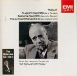 MOZART - Beecham - Concerto pour violon et orchestre n°3 en sol majeur K