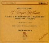 VERDI - Kleiber - I vespri siciliani, opéra en cinq actes (version 1855 live Florence 26 - 5 - 51