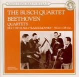 BEETHOVEN - Busch Quartet - Quatuor à cordes n°7 op.59-1 'Razoumovsky I'