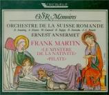 MARTIN - Ansermet - Le mystère de la Nativité