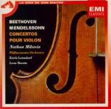 BEETHOVEN - Milstein - Concerto pour violon en ré majeur op.61
