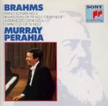BRAHMS - Perahia - Sonate pour piano n°3 en fa mineur op.5