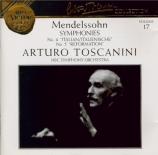 MENDELSSOHN-BARTHOLDY - Toscanini - Symphonie n°4 en la majeur op.90 'It