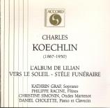 KOECHLIN - Graf - Album (L') de Lilian op.139 : extraits