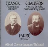 FRANCK - Thibaud - Quintette pour piano et cordes enfamineur FWV.7