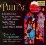 POULENC - Shaw - Messe en sol majeur, pour chœur mixte à quatre voix FP