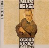 WEBERN - Dorow - Fünf Lieder d'après Trakl op.4