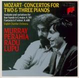 MOZART - Perahia - Concerto pour deux pianos et orchestre n°10 en mi bém