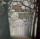 GOEHR - Knussen - a musical offering (J.S.B.1985)... op.46