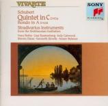 SCHUBERT - Beths - Quintette à cordes à deux violoncelles en do majeur o
